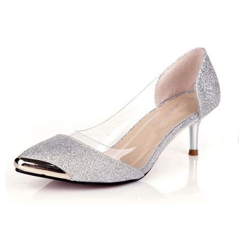 Silver Pumps For Wedding by Silver Low Heel 6 5cm Pointed Toe My Wedding Ideas