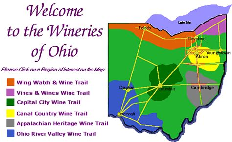 map of ohio regions what are the best regions for growing wine in ohio ohio