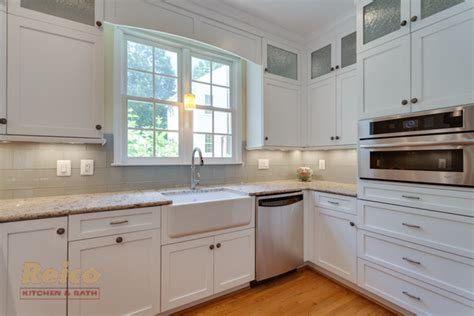 Transitional Style Kitchens - transitional white kitchen remodel gaithersburg md transitional kitchen other metro by