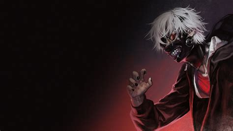 wallpaper anime ghoul ken kaneki mask full hd wallpaper and background