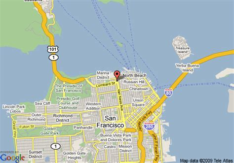 san francisco map america map of americas best inns san francisco fishermans wharf
