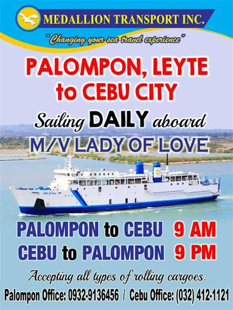 manila to cebu boat cebu to palompon boat schedule and fare updated