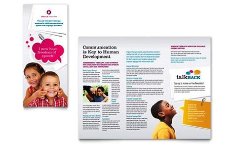 desain brosur anak anak desain brosur pamflet kesehatan dan medis elegan dan modern