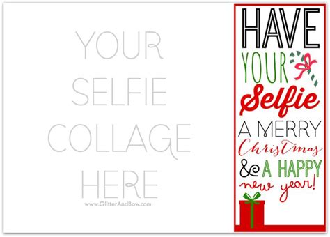 Happy Holidays Photo Card Template Free by Diy Printable Selfie Card Template Happy