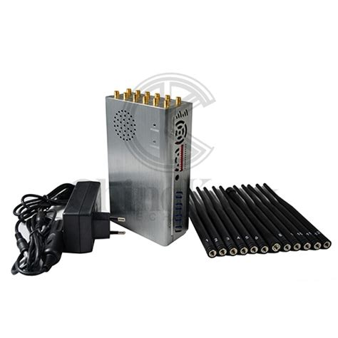the 12 antennas plus portable mobile phone signal jammer lojack gps wi fi signal blocker