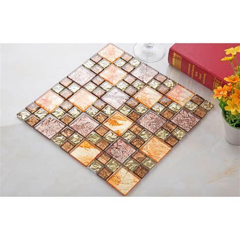 mosaic tile designs bathroom kitchen tiles unique yellow glass mosaic tile plated glass hand painted art