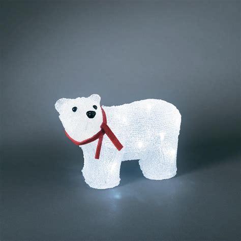 acrylic figure polar bear cold white led konstsmide 6124