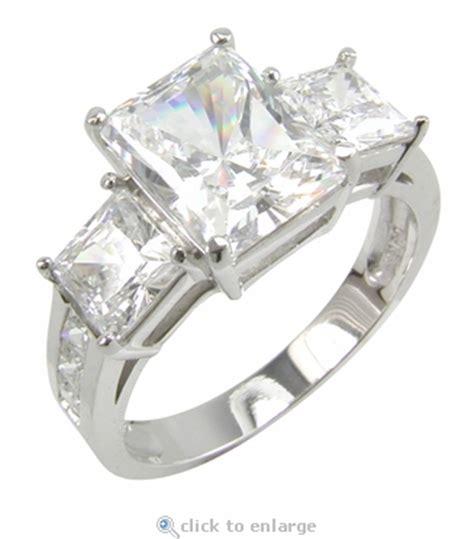 romero 2 5 carat radiant emerald cut and princess cut