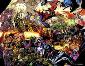 Marvel Universe All Marvel Comics Together Hd Desktop Wallpapers