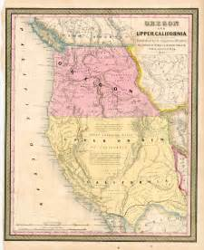 map of california oregon oregon and california 1848 barry