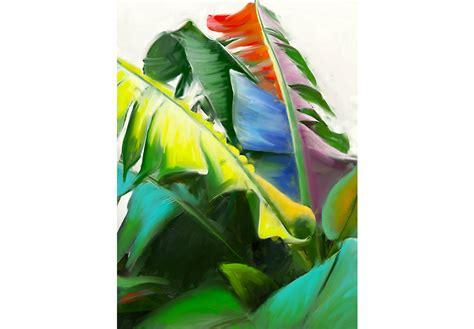 banana leaves  canvas artwork wall decor