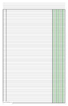 printable columnar paper   columns  ledger sized paper  portrait orientation