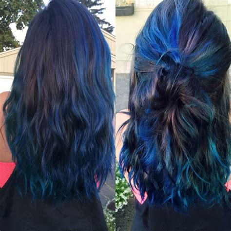 sapphire colored hair dye oil slick hair joico color intensity in peacock green and