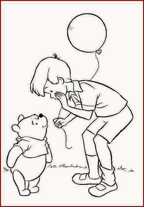 5 winnie the pooh christopher robin coloring pages