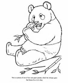 free coloring pages of baby panda eating bamboo