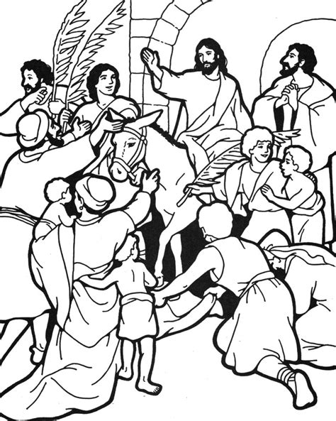 coloring page jesus rides into jerusalem with trusty and the triumphal entry trusty s mailbag