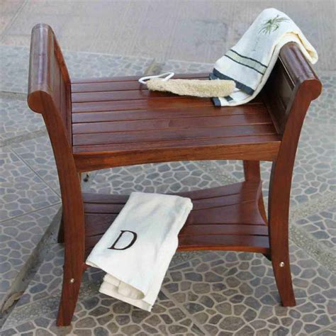 bench for bathroom bloombety cedar shower bench with cool designs why