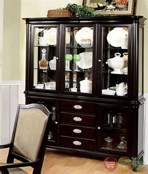 formal dining room sets with china cabinet harrington elegant dark walnut formal dining set with