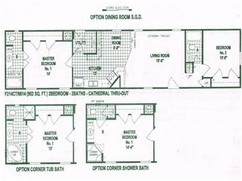 furniture option of single wide mobile home floor plans