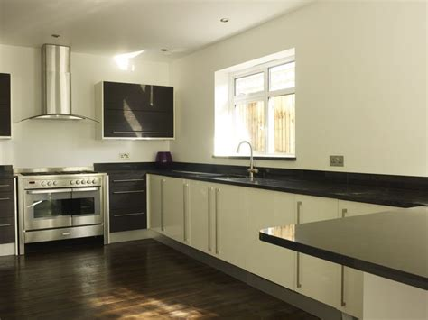 contemporary kitchen worktops contemporary galaxy black granite kitchen worktops
