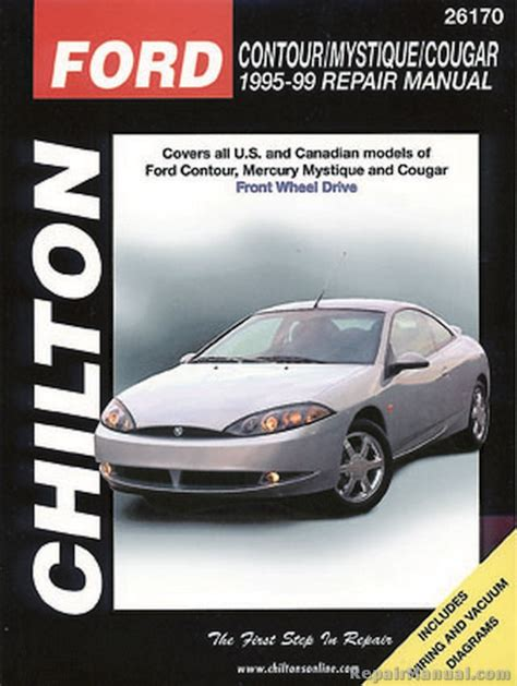 online car repair manuals free 1998 mercury mystique user handbook chilton ford contour mystique cougar 1995 1999 repair manual