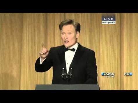 c span white house correspondents dinner conan o brien remarks at 2013 white house correspondents dinner c span