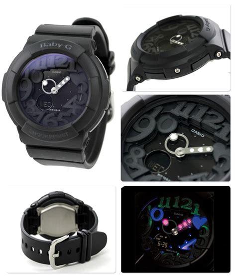 Casio Bga 131 1b casio baby g 3d combi all black neon illuminator bga 131