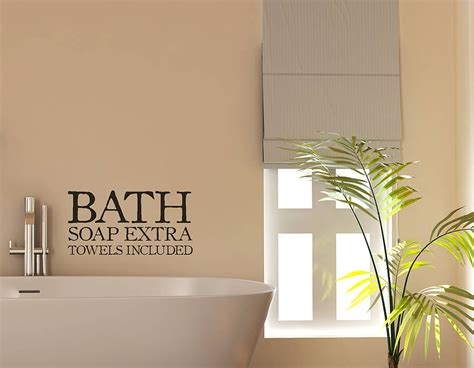 bathroom decal bath sign vinyl sticker contemporary wall stickers
