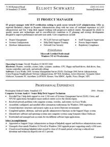 Project Manager Resume Template by Project Management Resume Sles Getessay Biz