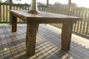 Rustic Patio Table Rustic Outdoor Table Felt