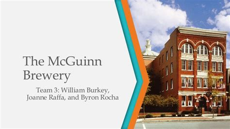 Pace Mba by Pace Executive Mba The Mcguinn Brewery