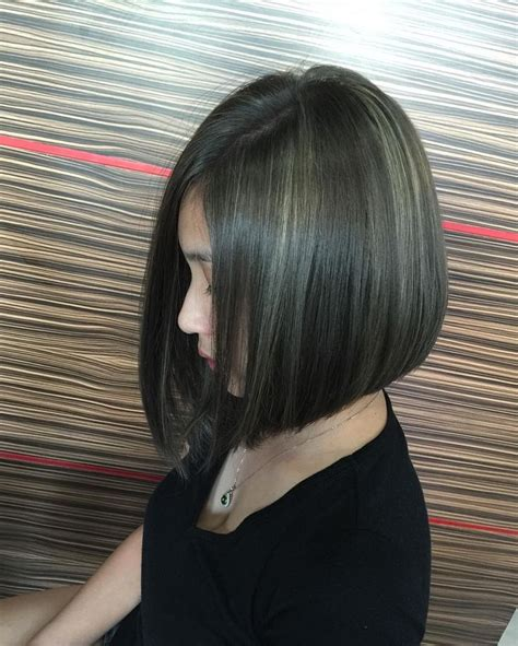 two toned asymetric bobs pintrest 1000 ideas about highlights for black hair on pinterest