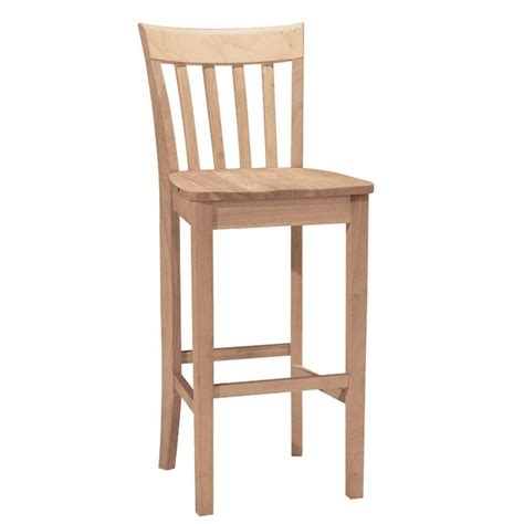 international concepts 30 in unfinished wood bar stool s