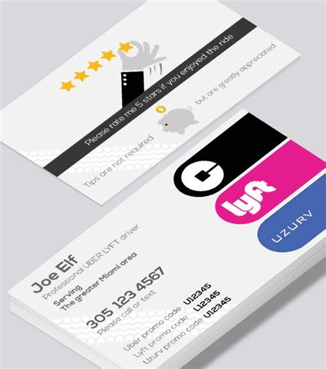 uber and lyft business cards templates business cards modern design images card design and card
