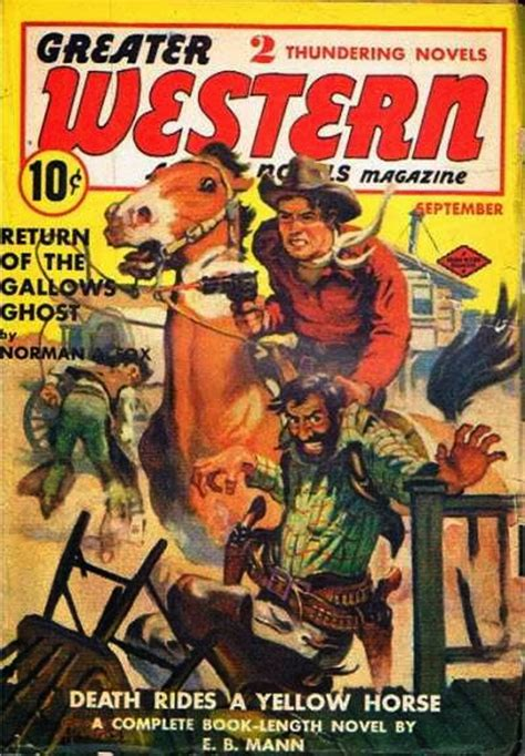 rough edges saturday morning western pulp greater western action novels magazine september