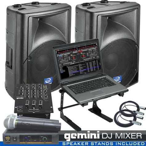 dj system package for the computer dj ready for live gigs