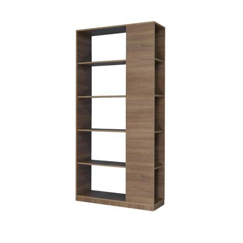 estante spaceo estante decorativa madeira marrom 183x30x90cm infinity
