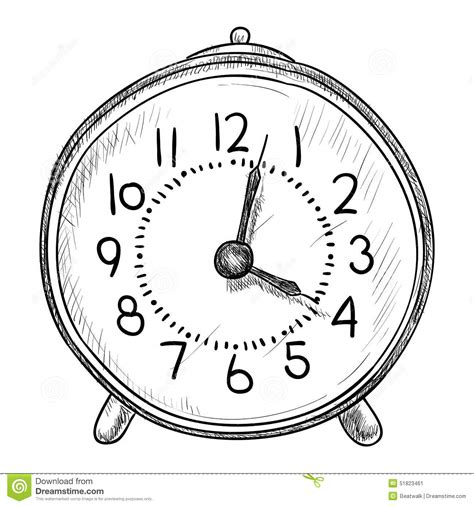 orologio clipart vector sketch of clock stock vector image 51823461