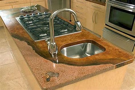 Best Place To Buy Kitchen Countertops Amazing Poured Concrete Countertops Cool Detail Like