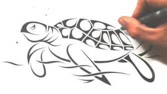 How to draw a sea turtle tribal tattoo design style youtube