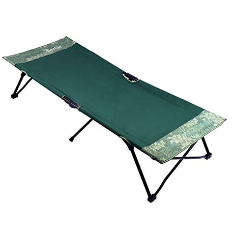 Comfortable Folding Bed Forfar Folding Cing Bed Portable Lightweight Comfortable Cot Green Mattresses Bedding