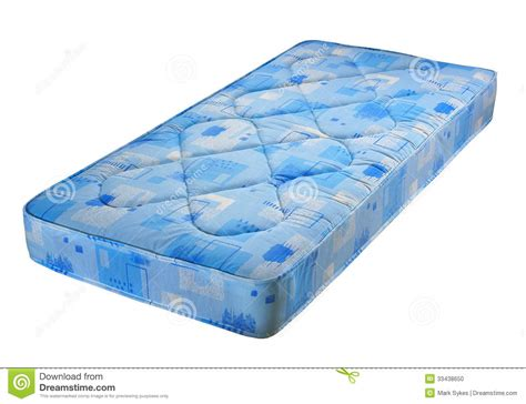 how to make a mattress blue bed mattress stock photo image 33438650