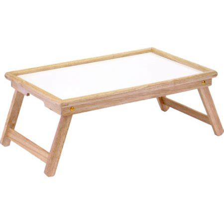 flip top lap table bed tray white melamine and beechwood