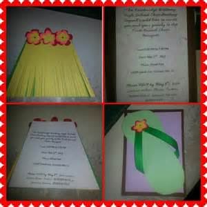 diy luau invitations ideas