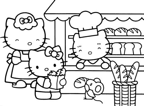 colouring pages hello to print chef coloring pages happy hello at the bakery