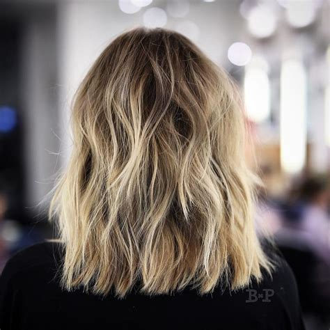 pictures of back of choppy layered hair tousled sunflower blonde shoulder length hair with choppy