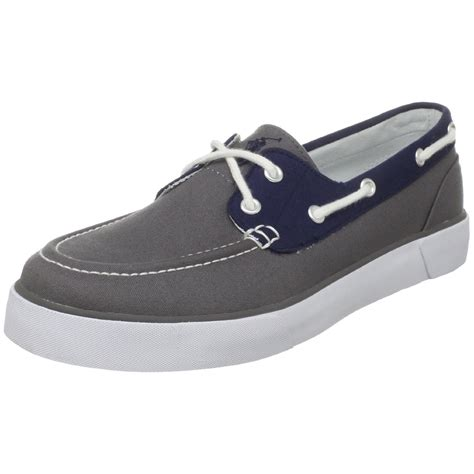 polo lander boat shoes polo ralph lauren mens lander boat shoe in gray for men