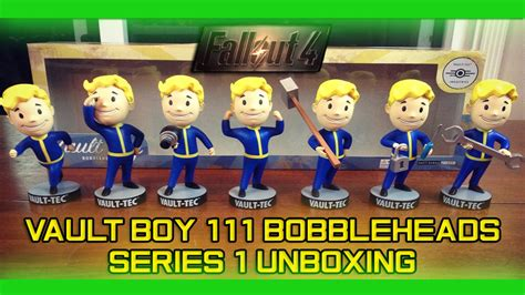 fallout 1 bobbleheads fallout 4 vault boy 111 bobbleheads series 1 unboxing