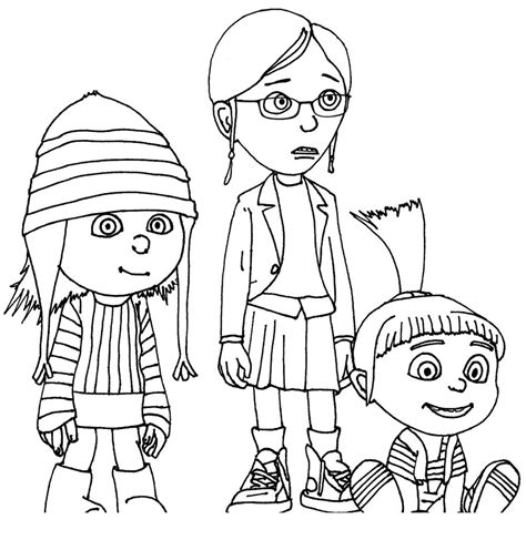 free minion girl coloring pages