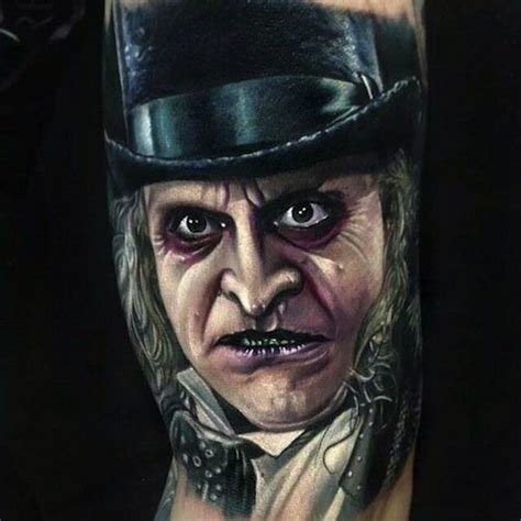 paul acker tattoo horror artist paul acker tattooed this penguin batman